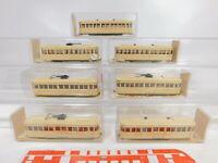 CA192-0,5# 7x Wiking 1:87/H0 Straßenbahn: 750 Triebwagen + 749 Anhänger, s.g+OVP