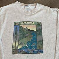 Redwood National Park T Shirt Mens Medium Adult Gray Long Sleeve Vintage 90s