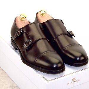 * NIB * $425 Bruno Magli BARONE 8 M Brown Nordstrom * new Shoe Trees Bags