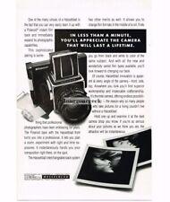 1988 HASSELBLAD Medium Format SLR with Polaroid Back Vtg Print Ad