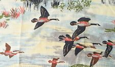"Vintage Barkcloth Panel Flying Geese MCM Mid Century 47"" x 32"""