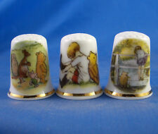Birchcroft Thimbles -- Set of Three -- Winnie the Pooh and Friends