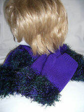 Hand-knitted Scarf and Fingerless Gloves – Ref 1291