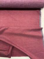 Burgundy 100% Virgin Wool Garment Jacketing Fabric. 300g