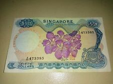 Singapore Orchid $50 note