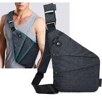 Anti-theft Men's Sling Bag Camping Travel Crossbody Shoulder Chest Pack