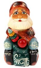 Vintage Hand Carved & Panted Santa Claus Wooden Figure Adorable Collectible