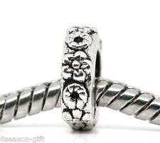 50 Flower Spacer Beads Fit Charm Bracelet 10x10mm