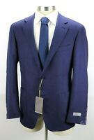 $1595 CANALI Kei Unstructured Blue Pin Dot Wool Silk Jacket Coat 44 R fits 42 R