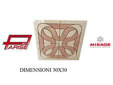 Rosone decoro Mirage ceramica mosaico su rete prima scelta levigato 30x30 B114