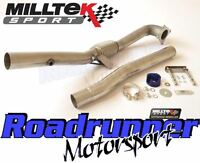 "Milltek SSXAU284 3"" Decat Downpipe Stainless Exhaust Removes Cat Fits 2.75"" Sys"