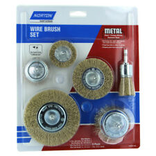 Norton Wire Brush Cup Set 6Pc Electric Drill Steel Removing Rust Metal Dirt