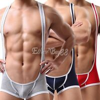 Sexy Mens Wrestling Singlet Sports Jockstrap Underwear Leotard Bodysuit Jumpsuit