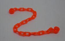 Lego Kette mit 21 Gliedern neon-orange Zubehör Kleinteile Stadt Ritter Chain Neu