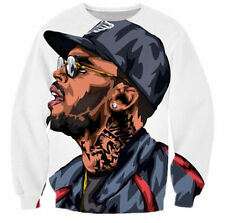 Cool Women/Men's Chris Brown cartoon Characters 3D Print Sweatshirt Hoodies Y2