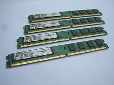 8GB RAM DDR2 Kingston 4 x 2GB Module KVR800D2N5-2G PC2-6400 800 Mhz Low Profile
