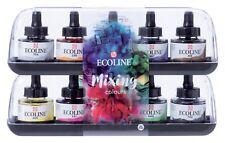 Talens Ecoline Liquid Watercolour Ink Mixing Colours Set 10 x 30ml