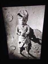 Benin- Bronze Plaque: Kola Nut Box-African Nigerian Tribal Art 35mm Slide