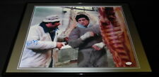 Burt Young Signed Framed 18x24 Rocky Paulie Photo Display JSA