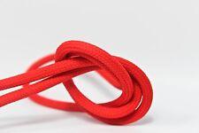 3m 3x1,5mm² Premium Design Textilkabel Hellrot Top EU Qualität Stoffkabel