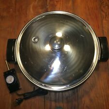 SALADMASTER ELECTRIC OIL CORE SKILLET WITH COVER ~ 12 IN. ~ EXCELLENT ~ 7256