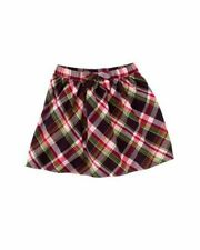 NWT 10 Gymboree Pups and Kisses eggplant, pink, green & yellow plaid skirt  New