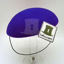 FASHION Wool Felt Ladies Beret Pillbox Hat Women Fascinator Plain Base | Purple