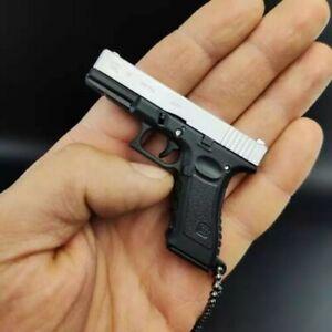 2021 New Glock G17 Beretta 1:3 Reduced Model Semi-alloy Keychain Gift Pendant De