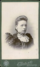 Southampton. Lady Lace Collar Velvet Victorian Fashion JE.1587