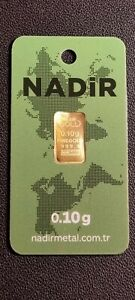 0,10g 999,9 OR GOLD ASSAYER NADIR METAL RAFINERI lingot d'or / bar / lingotin