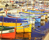 Puzzlebug Jigsaw Puzzle Colorful Fishing Boats at the Harbor 500 pieces 18 x 11