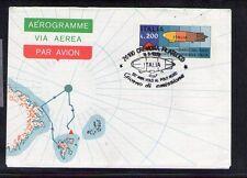 ITALIA AEROGRAMMA  50° ANNIVERSARIO VOLO AL POLO NORD VIAGGIATA CREMONA 4-3-1978
