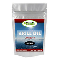 Better Bodies Olio Di Krill Superba 500mg 100 Capsule alta qualità UK prodotte