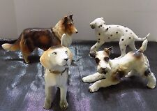 Lot of Dog Vintage Figurines Collie  Beagle  Dalmation  Terrier Made in Japan