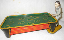1940s Windup Ranger Steel Billiard Pool Player Game Tin Litho with Stop Lever