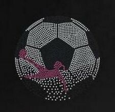 Soccer Ball Girl  Rhinestone Iron on Transfer        AAQV