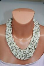 Collane e pendagli di bigiotteria collier bianchi