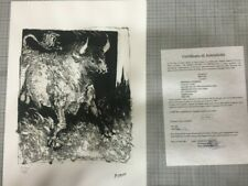 Picasso Pablo serie Buffon con certificato notarile  TREC-Spadem MZ058