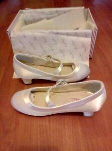 BNIB! RAINBOW CLUB - MAISIE Bridesmaid/Holy Communion Shoes WHITE SATIN Size 11!