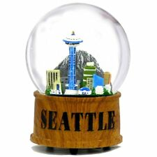 City-Souvenirs Seattle Snow Globe Musical Glass Dome with Skyline and Space