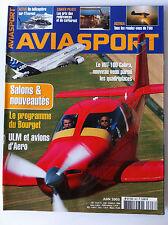 AVIASPORT n°607 du 06/2005; ULM et Avions d'Aero/ Le VUT-100 Cobra/ Salon