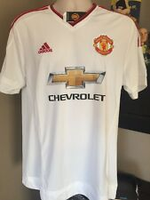 Adidas Manchester United 15/16 Men's Away Soccer Jersey (White/Risk Red) AI6363