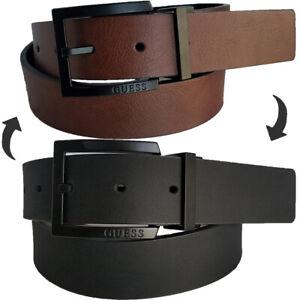 Guess Belt Men's 35mm reversible dress Tan/Black Belt