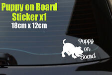 Puppy on Board dogs Decal Sticker, Laptop, Window, Car, Van, Bumper,