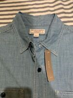 J.Crew Wallace & Barnes Button Down Chambray Work Shirt Size S