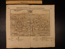 1628 MAP City of Cheb CZECH Republic Sebastian Münster Cosmographia Prague Eger
