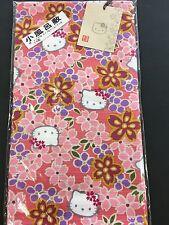 New Hello Kitty Sakura Cherry Blossoms Small Furoshiki Wrapping Cloth Pink JAPAN