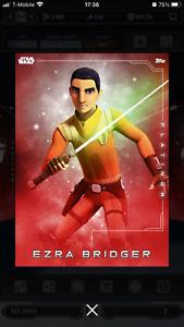 EZRA BRIDGER - PLATINUM 2021 - Digital EPIC - STAR WARS Card Trader Topps