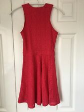 Abercrombie & Fitch Girls Kids Red Lace Dress Size Large 14 :