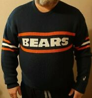 Vintage 1980's Chicago Bears Cliff Engle Adult Wool Blend Sweater Ditka size XL